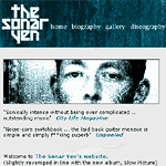 screenshot of thesonaryen.co.uk homepage
